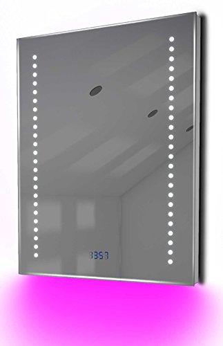 Antibeschlag-Spiegelschrank Bad Raumbeleuchtung, Sensor & Rasiersteckdose K126G