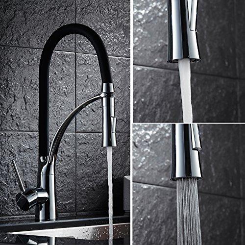 Auralum-360Drehbar-Schwarz-Armatur-Kchenarmatur-Wasserhahn-Waschtischarmatur-Kche-WaschbeckenarmaturMischbatterie-0