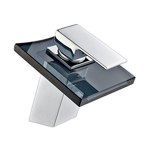Auralum-Chrom-Armatur-Wasserhahn-Waschtischarmatur-mit-Grau-Glas-Wasserfall-Waschtisch-Waschbecken-Einhebelmischer-fr-Bad-und-Kche-0