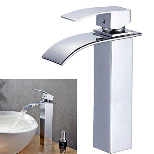 Auralum-Chrom-Bad-Wasserhahn-Einhebel-Wasserfall-Einhandmischer-Spltischarmaturen-Waschtisch-waschtischarmatur-Armatur-Badezimmer-0