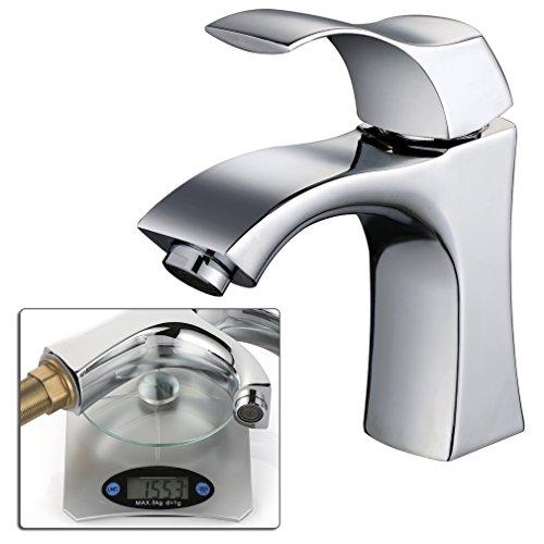 Auralum-Elegant-2-Jahre-Garantie-Hochwertig-Einhebel-Mischbatterie-Verchromt-Wasserhahn-Armatur-Waschtischarmatur-Wasserfall-Einhandmischer-fr-Bad-Waschbecken-0
