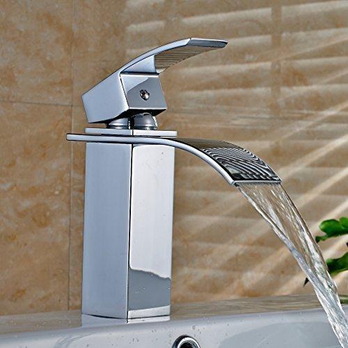 Auralum-Elegant-Einhebel-Mischbatterie-Wasserhahn-Armatur-Waschtischarmatur-Wasserfall-Einhandmischer-0