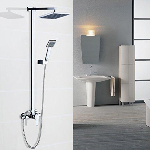 Auralum-Modern-quartett-Duschsystem-Duscharmatur-f-shower-set-Wasserfall-Duschen-Duschset-Brauseset-Inkl-Hochwertige-Handbrause-Duschkopf-Wandhalterung-Duschpaneel-0