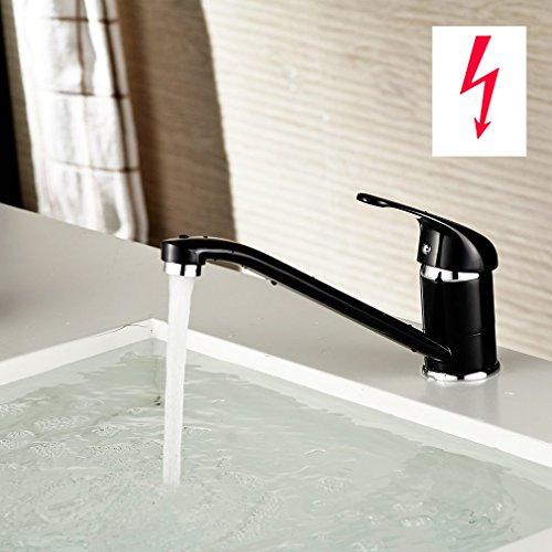 Auralum-Niederdruck-Wasserhahn-Einhebel-Spltischarmatur-Waschbecken-Kche-Bad-Armaturen-0