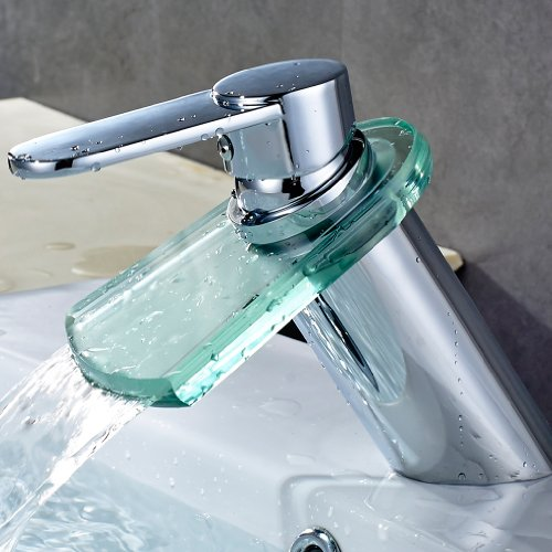 Auralum-Zeitgenssig-Glas-Mischbatterie-Wasserfall-Wasserhahn-Waschtisch-fr-Waschbecken-Sple-Waschtischarmatur-Kchen-Bad-0
