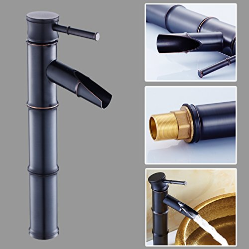 Auralum-Zeitgenssig-Schwarze-Bronze-Bambus-Form-Mischbatterie-Wasserhahn-Armatur-fr-Waschtisch-Bad-Waschbecken-Kche-0