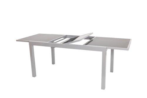 Ausziehtisch-PISA-140200x90cm-Aluminium-Glas-0