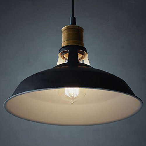 B-right® Pendelleuchte Hängelampe Industrie Kronleuchter Simplicity Metall Pendelleuchte, Industrie Deckenlampe / Deckenleuchte, Geeignet für E26/E27 LED-Lampe, höhenverstellbar (1er Pack) [Zwei-Jahre-Garantie]