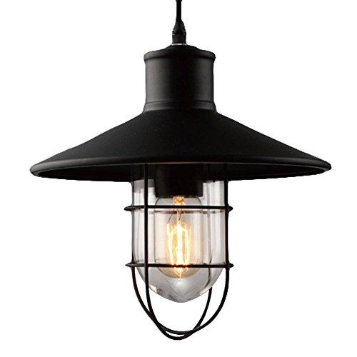 BAYCHEER-E27-Vintage-Hngeleuchte-mit-Metallgestell-Glaskuppel-Industrielampe-Pendelleuchte-Kronleuchter-fr-Bar-Esszimmer-0