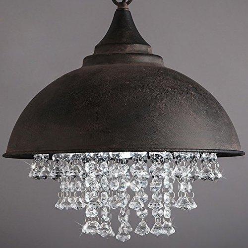 BAYCHEER Industrie Kristall Kronleuchter Hängeleuchter Vintage Stile Retro Lampe (Schwarz)