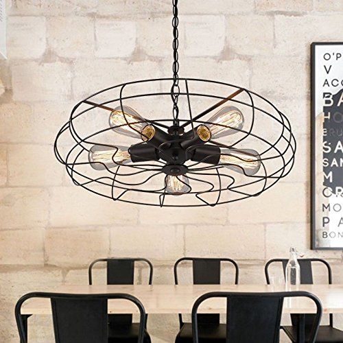 BAYCHEER-Industrielampe-5-Flamimige-Ventilator-Hngelleuchte-FAN-Vintage-Design-Pendelleuchte-Kronleuchter-0
