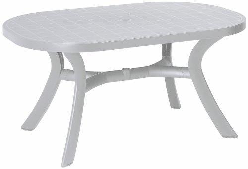 BEST 18511500 Tisch Kansas oval 145 x 95 cm, weiß