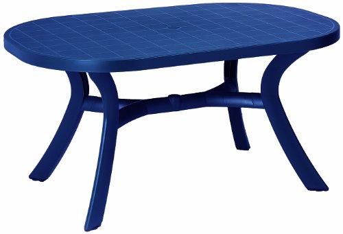 BEST 18511520 Tisch Kansas oval 145 x 95 cm, blau