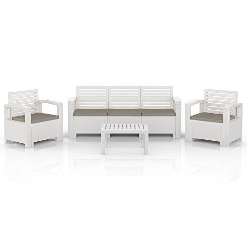 BICA-Nevada-Garten-Mbel-Lounge-Sitz-Gruppe-Garnitur-Set-Kunststoff-weiss-0