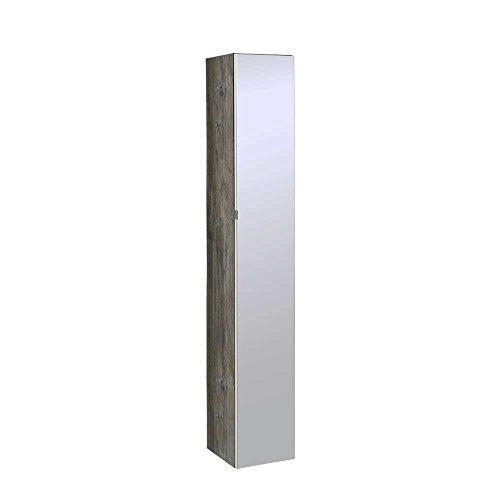Bad Hochschrank mit Spiegel Weiß Pharao24