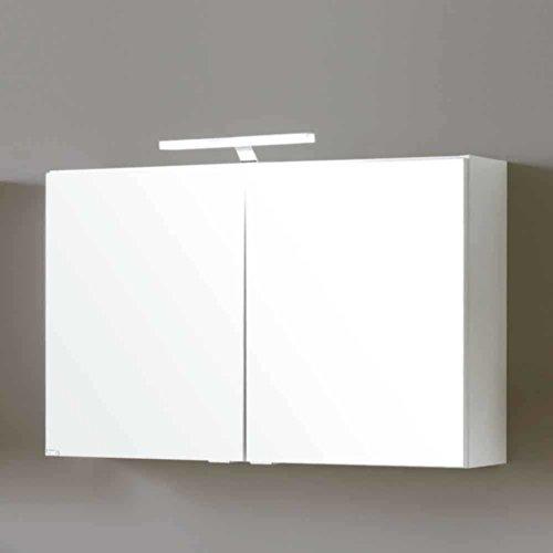 Bad Spiegelschrank Select in Weiß Matt Breite 80 cm Ohne Pharao24