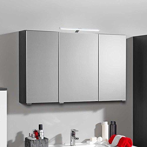 bad spiegelschrank mit 3d effekt anthrazit breite 90 cm pharao24 m bel24. Black Bedroom Furniture Sets. Home Design Ideas