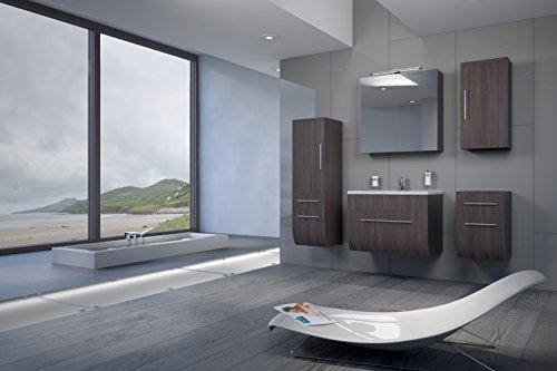 Bad11-5-teiliges-Badmbelset-ZARIF-Farbton-Trffeleiche-Holzoptik-mit-70-cm-Waschplatz-und-Mineralguss-Waschbecken-Schubfach-Spiegelschrank-Unterschrank-mit-zwei-Schubfchern-Hochschrank-mit-zwei-Schubfc-0