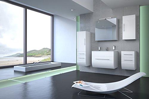 Bad11-5-teiliges-Badmbelset-ZARIF-Hochglanz-wei-mit-70-cm-Waschplatz-und-Mineralguss-Waschbecken-Schubfach-Spiegelschrank-Unterschrank-mit-zwei-Schubfchern-Hochschrank-mit-zwei-Schubfchern-und-Tr-und--0