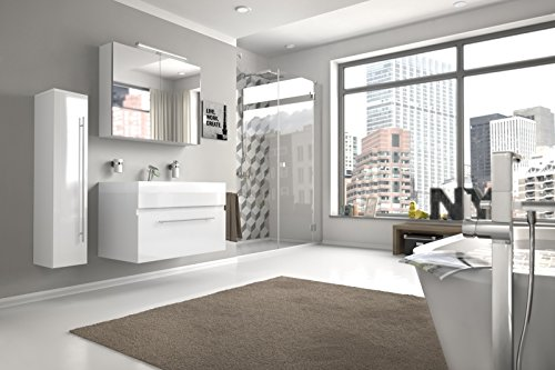 Bad11-Badmbelset-LAZZARO-3-teilig-80-cm-Bad-Mbel-Set-mit-Waschplatz-inklusive-Mineralguss-Waschbecken-exklusive-Badezimmer-Ausstattung-in-Hochglanz-wei-Designer-Bad-mit-Spiegelschrank-und-Hochschrank-0
