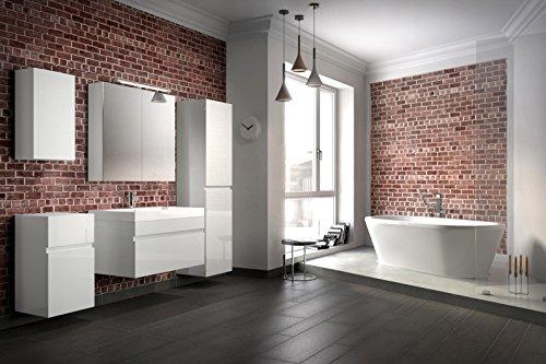 Bad11-Badmbelset-Pandora-5-teilig-80-cm-Badezimmer-Mbel-in-hochglanz-wei-mit-Waschplatz-inklusive-Mineralguss-Waschbecken-Designerbad-mit-Spiegelschrank-und-Hochschrank-weiterer-Stauraum-durch-Untersc-0