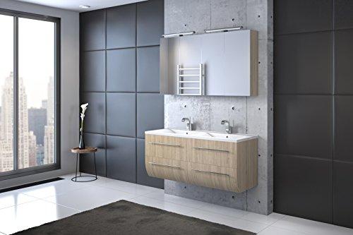 Bad11-Badmbelset-ZESIRO-CLASSIC-Farbton-Sonomaeiche-Holzoptik-matt-mit-Doppelwaschbecken-und-2-x-Spiegelschrank-Waschtisch-unten-abgerundet-Farbauswahl-0