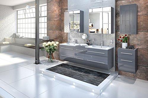 Bad11-Badmbelset-ZESIRO-in-Hochglanz-grau-5-teiliges-Komplettset-mit-Doppelwaschbecken-inklusive-Keramik-Waschbecken-Unterschrank-und-Hngeschrank-bieten-viel-Stauraum-2-x-Spiegelschrank-Farbauswahl-0