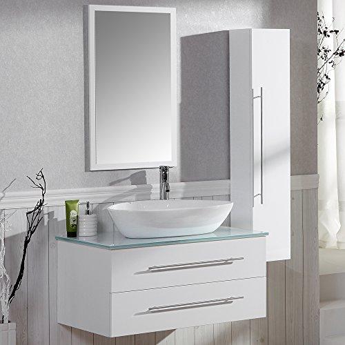 Badezimmer komplett set badm bel inkl waschbecken armatur waschbeckenunterschrank - Badmobel komplett set ...