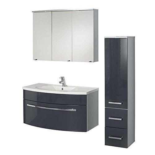 Badezimmer-Komplettset-Zalto-in-Anthrazit-Hochglanz-made-in-Germany-3-teilig-Pharao24-0