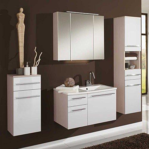 badezimmer komplettset in pinie honigfarben wei 4 teilig pharao24 0 m bel24. Black Bedroom Furniture Sets. Home Design Ideas