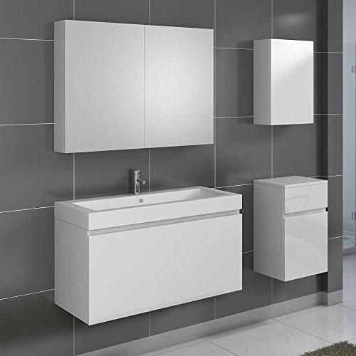 Badezimmer-Komplettset-in-Wei-Hochglanz-hngend-4-teilig-Pharao24-0