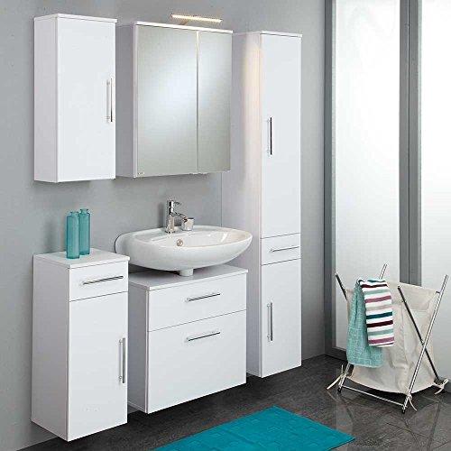 Badezimmer Set Gesdana in Weiß komplett (5-teilig) Pharao24