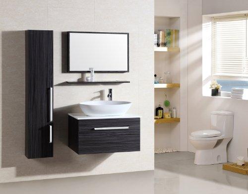 Badezimmermöbel Set - Badmöbel Saint Tropez Wenge - M-70110B/926 - Spiegel - Hänge-/Unterschrank - Waschbecken