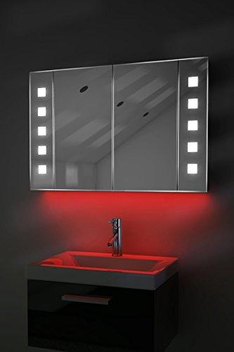 Badezimmerspiegelschrank mit Beleuchtung, Sensor und Rasierersteckdose K70R