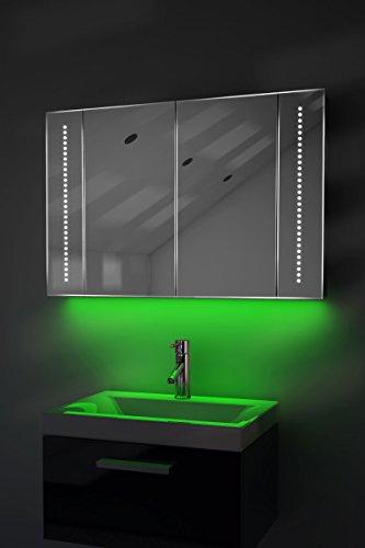 Badezimmerspiegelschrank mit Beleuchtung, Sensor und Rasierersteckdose K71G