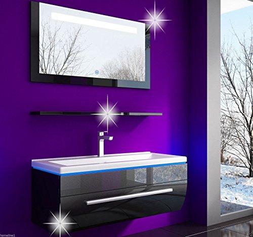 Badmbel-set-Atlantis-Hochglanz-Lackiert-Fronten-Schwarz-90-cm-spiegelschrank-mit-beleuchtung-Waschbecken-0