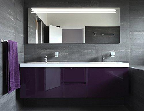 Badspiegel mit Beleuchtung Belinia F111L1: Design Spiegel für Badezimmer, beleuchtet mit LED-Licht, modern - Kosmetik-Spiegel Toiletten-Spiegel Bad Spiegel Wand-Spiegel