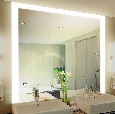 Badspiegel mit Beleuchtung Kadi M314L3: Design Spiegel für Badezimmer, beleuchtet mit LED-Licht, modern - Kosmetik-Spiegel Toiletten-Spiegel Bad Spiegel Wand-Spiegel