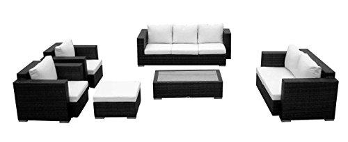 Baidani-10c0000400001-Designer-Lounge-Wohnlandschaft-Daylight-3-er-Sofa-2-er-Sofa-1-Hocker-1-Couchtisch-mit-Glasplatte-2-Sessel-Sitzauflagen-schwarz-0