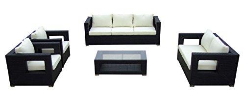Baidani-Gartenmbel-Sets-10c0000300001-Designer-Lounge-Garnitur-Seaside-3-er-Sofa-2-er-Sofa-2-Sessel-Sitzauflagen-1-Couch-Tisch-mit-Glasplatte-schwarz-0
