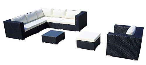 Baidani-Gartenmbel-Sets-10c0000600001-Designer-Lounge-Liege-Gardendream-Ecksofa-1-Sessel-1-Hocker-1-Couchtisch-mit-Glasplatte-schwarz-0