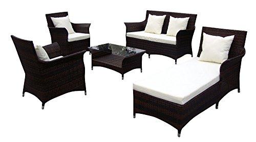 Baidani-Gartenmbel-Sets-10c0003700002-Designer-Lounge-Garnitur-Royalty-2-er-Sofa-1-Chaiselongue-2-Sessel-1-Couch-Tisch-Glasplatte-Sitzauflagen-braun-0