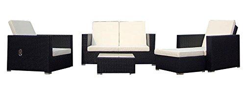 Baidani-Gartenmbel-Sets-10c0003800001-Designer-Lounge-Garnitur-Move-2-er-Sofa-2-Sesse-1-Hocker-mit-Auflage-1-Couch-Tisch-mit-Glasplatte-schwarz-0