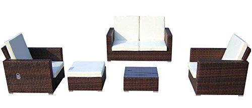 Baidani-Gartenmbel-Sets-10c0003800002-Designer-Lounge-Garnitur-Move-2-er-Sofa-2-Sesse-1-Hocker-mit-Auflage-1-Couch-Tisch-mit-Glasplatte-braun-0