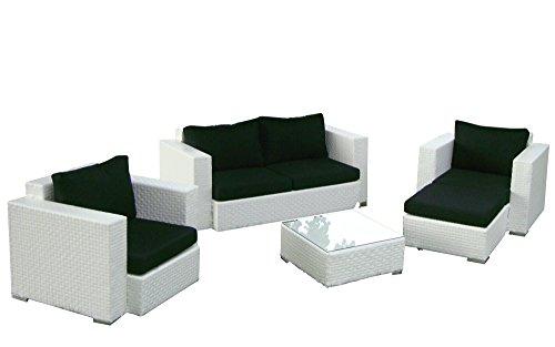 Baidani-Gartenmbel-Sets-10c0004200002-Designer-Rattan-Lounge-Garnitur-Calypso-1-2-er-Sofa-2-Sessel-1-Hocker-1-Couch-Tisch-mit-Glasplatte-braun-0