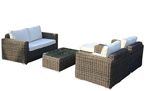 Baidani-Gartenmbel-Sets-10c00043-Designer-Lounge-Garnitur-Present-Hocker-Sessel-1-Couch-Tisch-mit-Glasplatte-braun-0