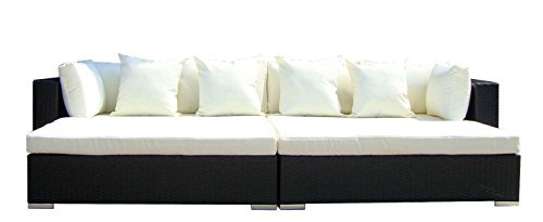 Baidani-Gartenmbel-Sets-10d0000100001-Designer-Rattan-Lounge-Paradise-2-Sofas-Sitzauflage-Kissen-schwarz-0