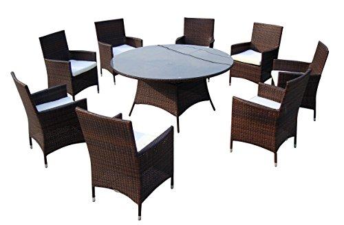 Baidani-Gartenmbel-Sets-10d0001000002-Designer-Lounge-Garnitur-Rondo-1-Tisch-mit-Glasplatte-8-Sthle-Sitzauflagen-braun-0
