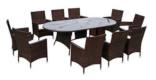 Baidani-Gartenmbel-Sets-10d0001100002-Designer-Garnitur-Convention-1-Tisch-mit-Glasplatte-10-Sthle-mit-passenden-Sitzauflagen-braun-0