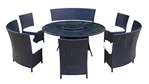 Baidani-Gartenmbel-Sets-10d0001300001-Designer-Lounge-Garnitur-Timeless-1-Tisch-mit-Glasplatte-3-Sthle-Doppelsitzer-passenden-Sitzauflagen-schwarz-0